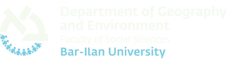 Department of Geography and Environment Bar-Ilan University